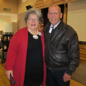 Ruth Schwartz and Curt Kinkead at Novato Rotary